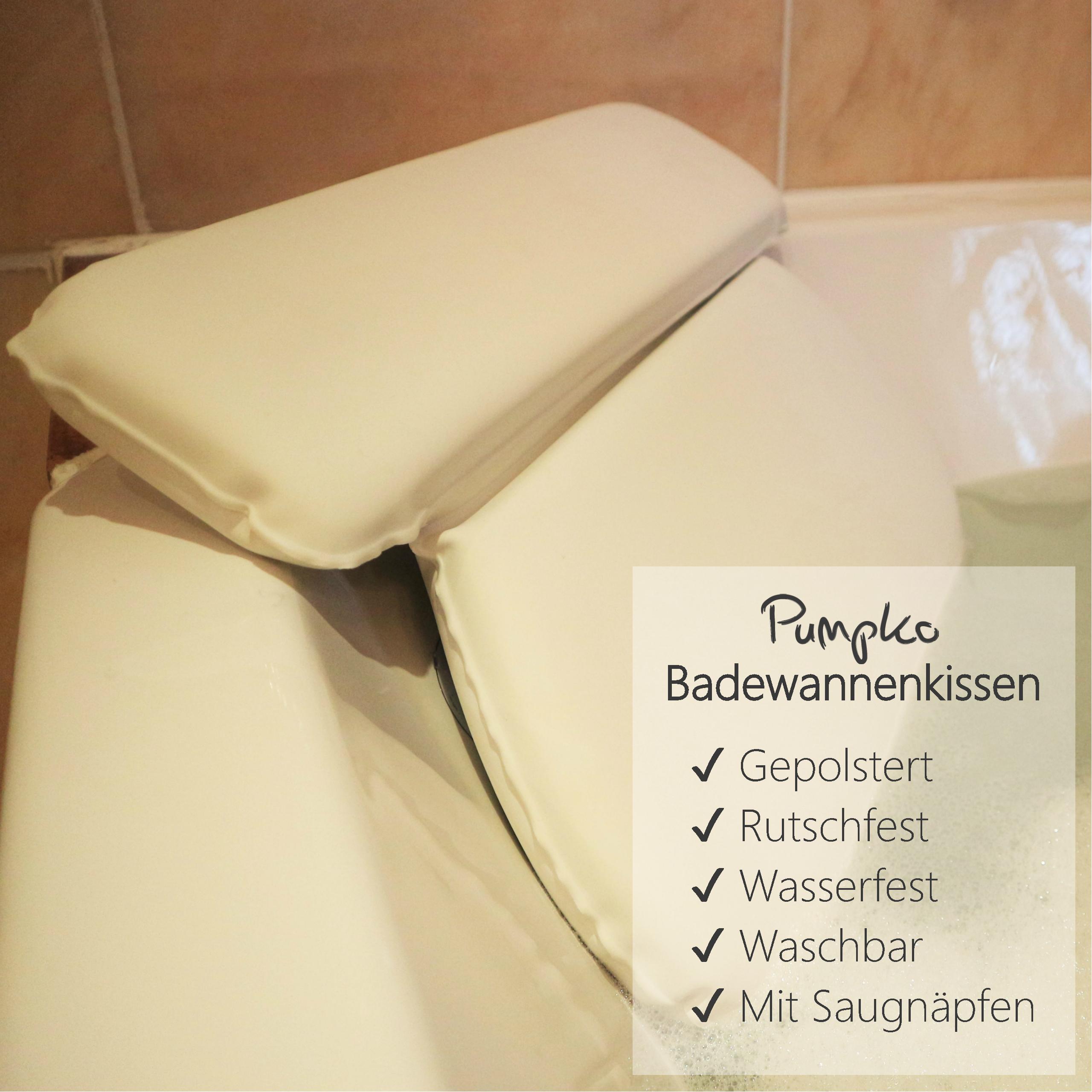 Badewannenkissen Bade Kissen mit Saugnäpfen Spa Halt für Nacken Schultern